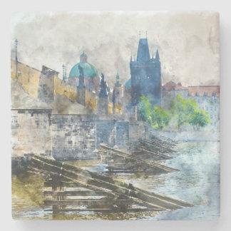 Charles-Brücke in Tschechischer Republik Prags Steinuntersetzer