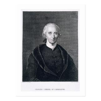 Charles Carroll von Carrollton, graviert durch Postkarte