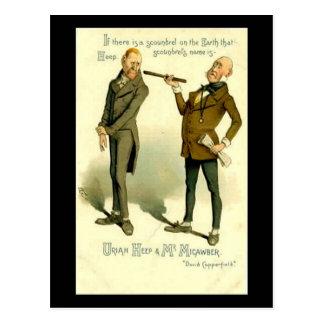 "Charles Dickens, ""David Copperfield "" Postkarte"