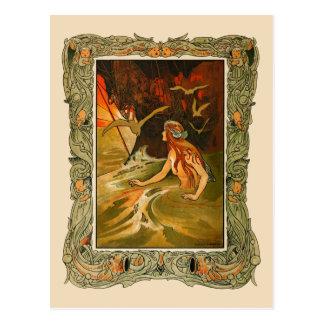 Charles Robinson - die Meerjungfrau Postkarte