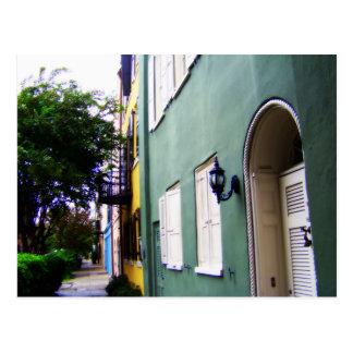 Charleston-Regenbogen-Reihen-Häuser Postkarte