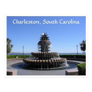 Charleston Sc-Ufergegend-Park-Brunnen-Postkarte Postkarte