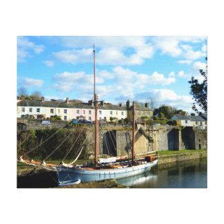 Charlestown Cornwall England Poldark Standort Leinwanddruck