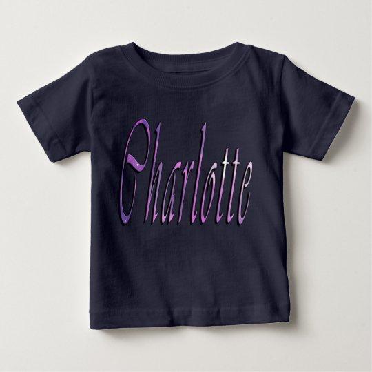 Charlotte, Name, Logo, der schwarze T - Shirt des