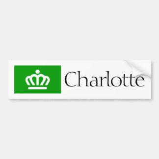 Charlotte, NC-Flaggen-Autoaufkleber Autoaufkleber
