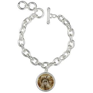 Charme-Armband mit Steampunk Mädchen-Charme Armband