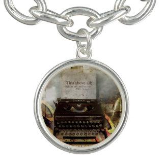 Charme-Armband mit Steampunk Zitat-Charme Charm Armband
