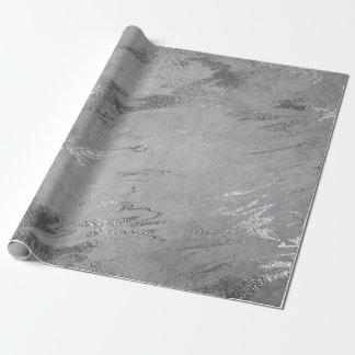 Charme brillant de marbre argenté noir gris de papiers cadeaux noël