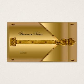 Charnière de regard en métal d'or de carte de