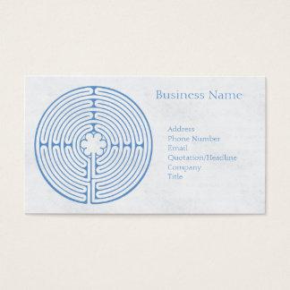 Chartres-Labyrinth-Blau Visitenkarte