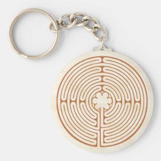 Chartres-Labyrinth Standard Runder Schlüsselanhänger
