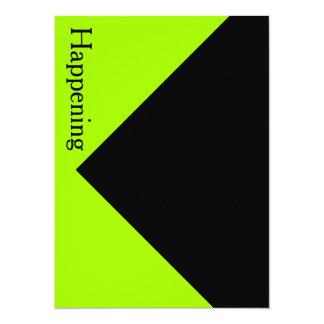 Chartreuse schwarzes modernes mutiges lädt 14 x 19,5 cm einladungskarte