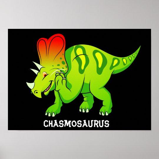 Chasmosaurus Poster