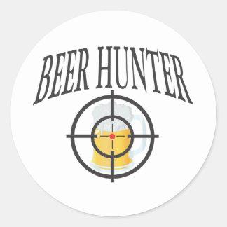 Chasseur de bière sticker rond