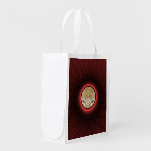 Châssis de fenêtre rouge tissé de sac d'épicerie