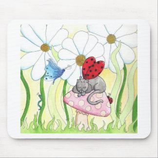 Chat de fée de coccinelle tapis de souris