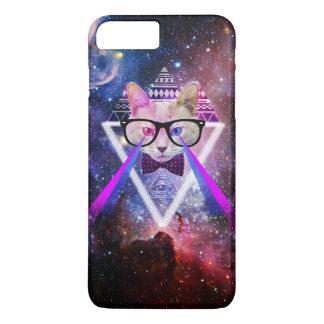 Chat de galaxie de hippie coque iPhone 7 plus