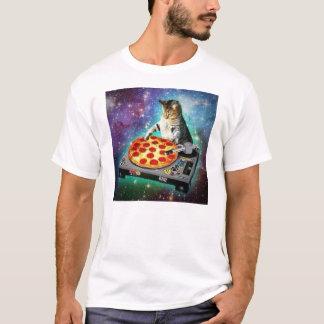 Chat de l'espace du DJ tournant un certain Za doux T-shirt