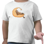 Chat de lune et d'étoile t-shirts