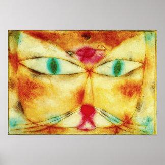 Chat de Paul Klee et affiche d oiseau
