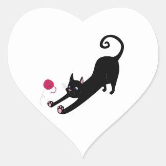 Chat espiègle sticker cœur