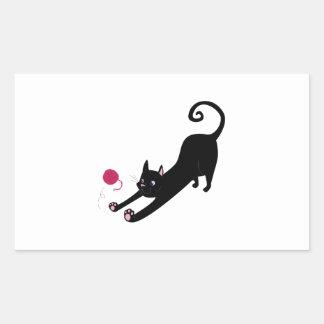 Chat espiègle sticker rectangulaire