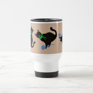 Chat espiègle mug de voyage en acier inoxydable
