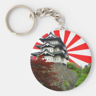 Château japonais porte-clé rond