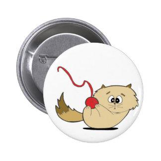 Chaton espiègle badge rond 5 cm