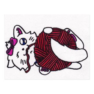 chaton espiègle mignon cartes postales