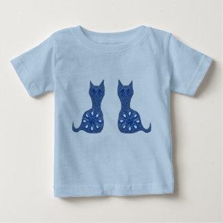 Chats bleus d'oeillet tee shirts