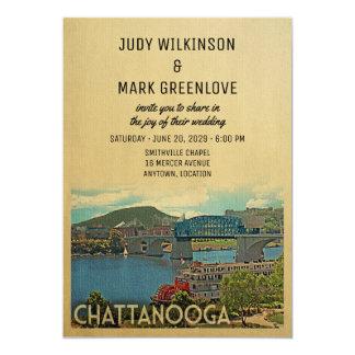 Chattanooga-Hochzeits-Einladung Tennessee Karte