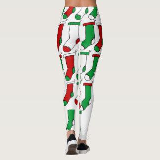 Chaussettes de bas de Noël Leggings