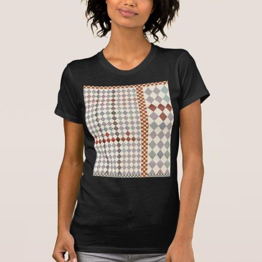 """""""Checkered Entwurf"""" 3, feiner Jersey-T - Shirt"""
