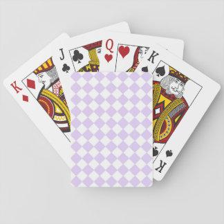 Checkered Muster des lila Diamanten Spielkarten