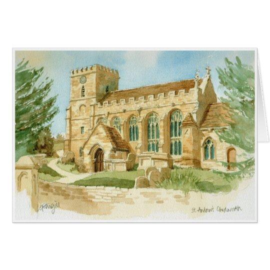 Chedworth Kirchen-Grußkarte Karte
