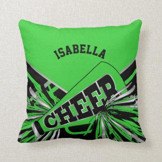 Cheerleader-Ausstattung im Limonen Grün, im Silber Kissen