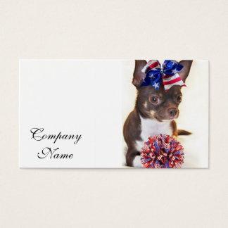 Cheerleader-Chihuahuahund Visitenkarte