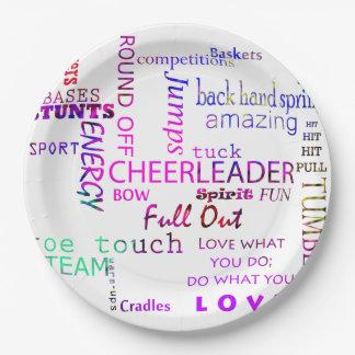 Cheerleader-Geburtstags-Party-Papier-Teller Pappteller