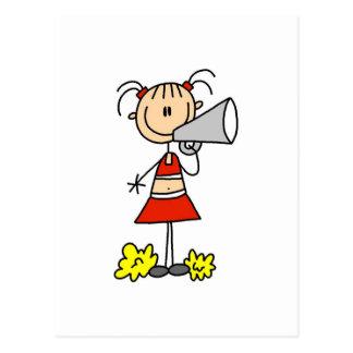 Cheerleader mit Megaphon-T-Shirts und Geschenken Postkarte