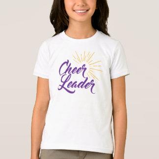 Cheerleader-T - Shirt - lila u. Gold