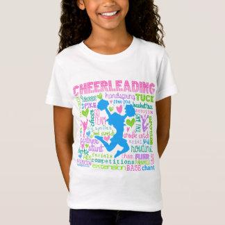Cheerleading Wort-Pastelltypographie T-Shirt