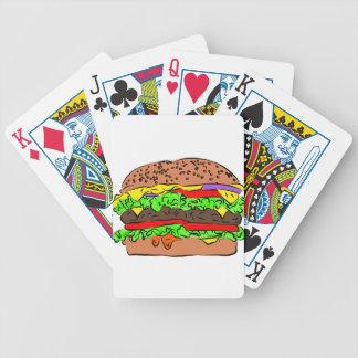 Cheeseburger Bicycle Spielkarten