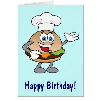 Cheeseburger-Cartoon-alles Gute zum Geburtstag Karte