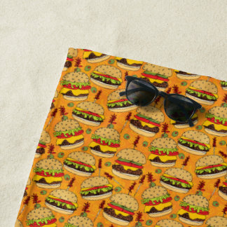 Cheeseburger delux strandtuch