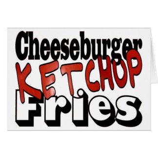 Cheeseburger-Ketschup-Fischrogen Karte