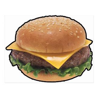 Cheeseburger Postkarte