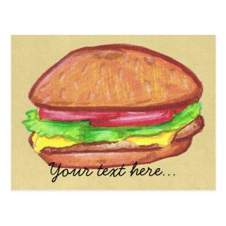 Cheeseburger-Postkarte Postkarte