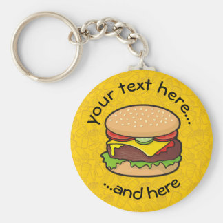 Cheeseburger Schlüsselanhänger