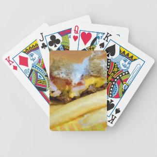 Cheeseburger und Fischrogen Bicycle Spielkarten